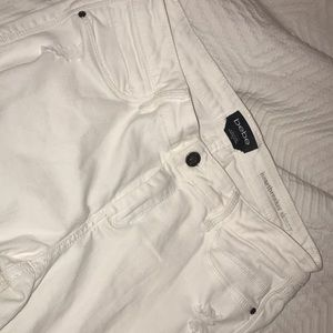 BEBE white distressed jeans